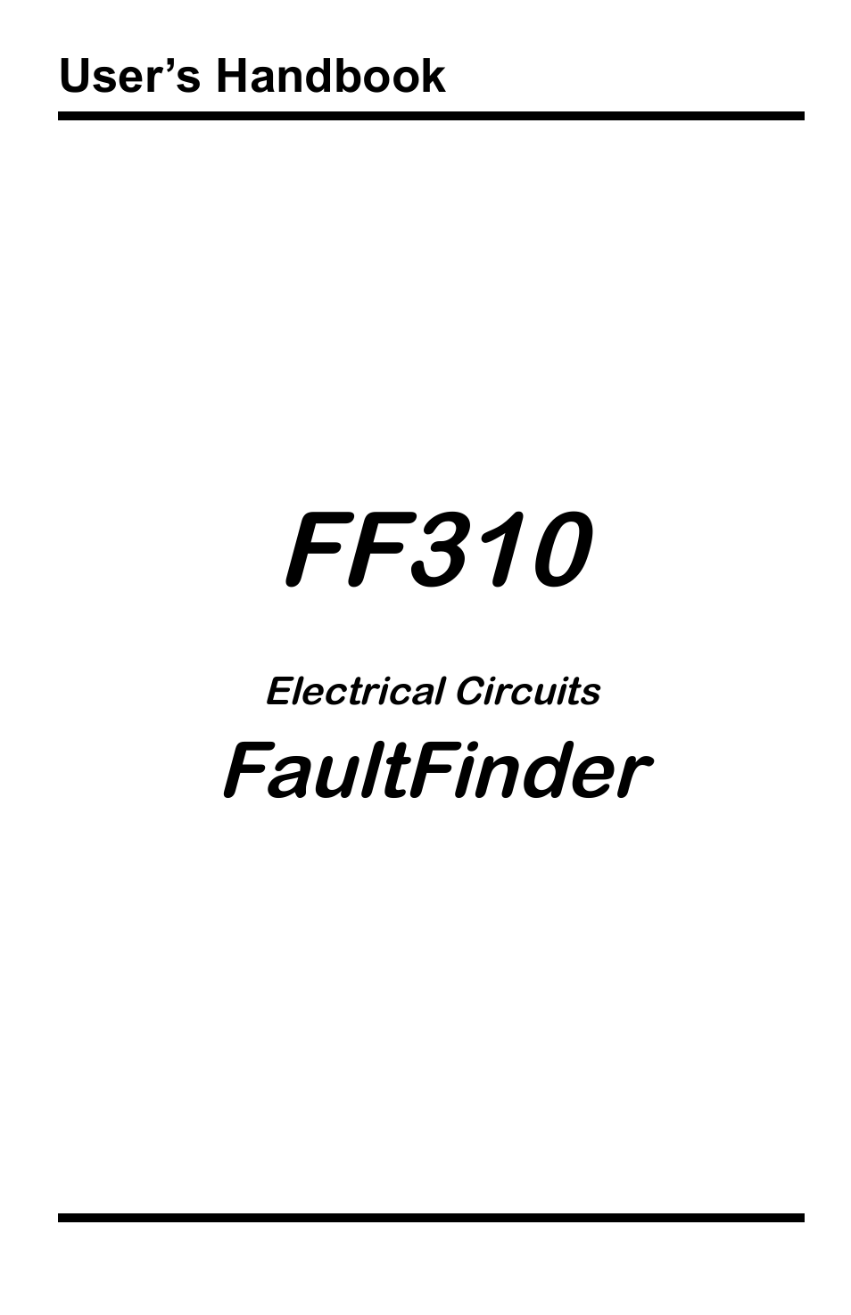 General Technologies FF310 Fault Finder for Electrical
