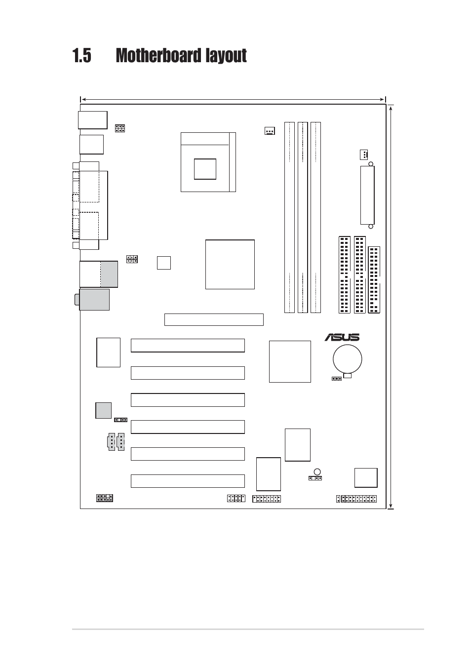5 motherboard layout, Asus p4pe-x/te motherboard user