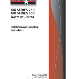 lanair mx300 user manual 56 pages also for mx250lanair waste oil wiring diagram 10 [ 954 x 1235 Pixel ]