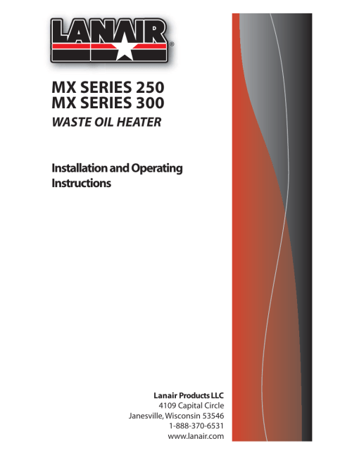 small resolution of lanair mx300 user manual 56 pages also for mx250lanair waste oil wiring diagram 10