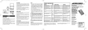 Reese 83501 BRAKEMAN COMPACT BRAKE CONTROL User Manual | 6 pages