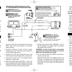 Trailer Brake Control Wiring Diagram Small Engine Bench Test Instructions, Mounting, | Reese 83501 Brakeman Compact User ...