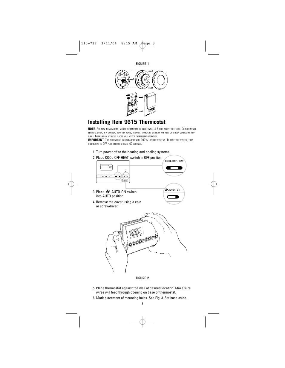 medium resolution of installing item 9615 thermostat robertshaw 9615 user manual page robertshaw thermostat 9520 manual robertshaw 9615 thermostat wiring diagram