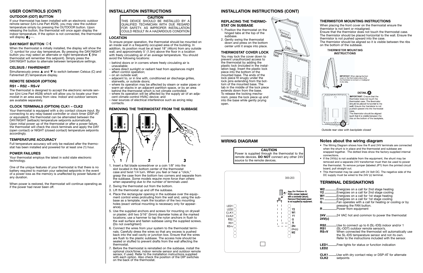 heating and cooling thermostat wiring diagrams for multiple stages