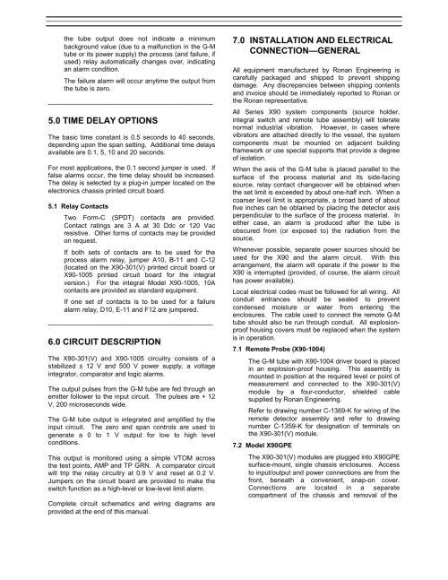 small resolution of 0 time delay options 0 circuit description 0 installation and electrical connection general ronan x90 series user manual page 5 20