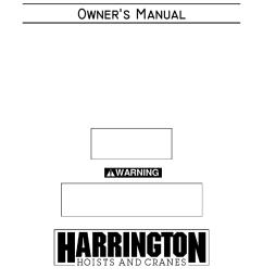 harrington hoists and cranes n er hoist n er1 user manual 72 pages [ 954 x 1235 Pixel ]