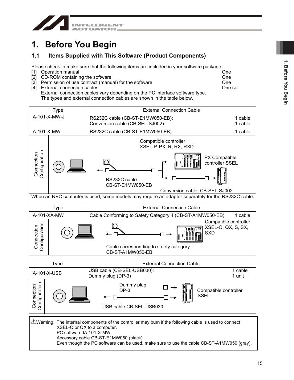 medium resolution of cb diagram st wiring e1mw050 before you begin iai america ia 101 x usbmw user manual page 23before you begin iai