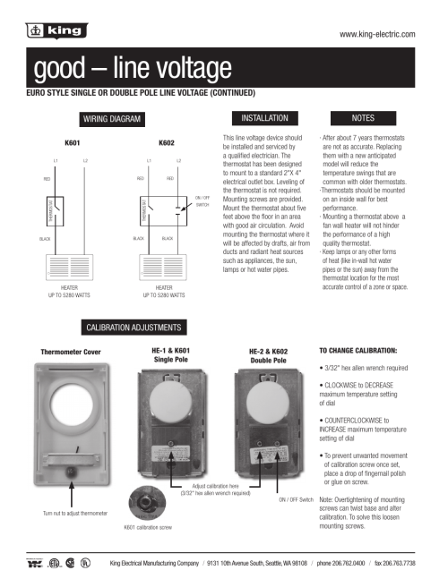 small resolution of good line voltage wiring diagram king electric k601c 25 heat or cool