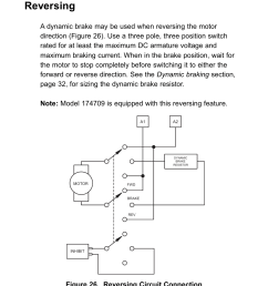 reversing figure 26 reversing circuit connection leeson scr thyristor motor control user manual page 54 60 [ 954 x 1179 Pixel ]