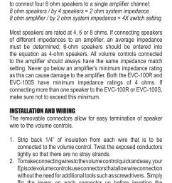 staub electronics evc 100s whla episode 100 w sliding volume control user manual page 4 8 also for evc 100r whla episode 100 w rotary volume  [ 955 x 1272 Pixel ]