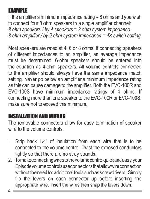 small resolution of staub electronics evc 100s whla episode 100 w sliding volume control user manual page 4 8 also for evc 100r whla episode 100 w rotary volume