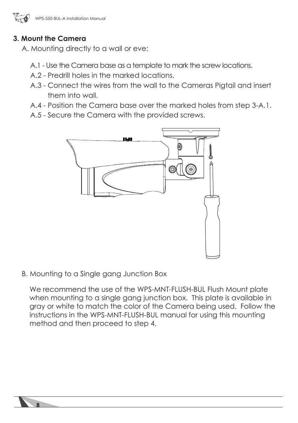 medium resolution of staub electronics wps 550 bul a wirepath surveillance 550 series bullet analog outdoor camera with ir 600 tvl user manual page 8 30