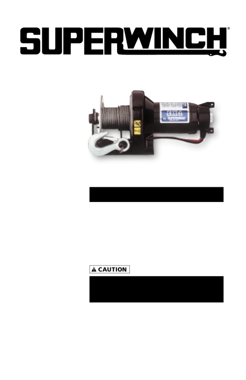 small resolution of superwinch ex1 453 kgs 12v 1110 user manual 48 pages rh manualsdir com at