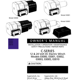 c series superwinch c1000 motor cover remote 453 kgs 12v user manual page 2 60 [ 954 x 1475 Pixel ]