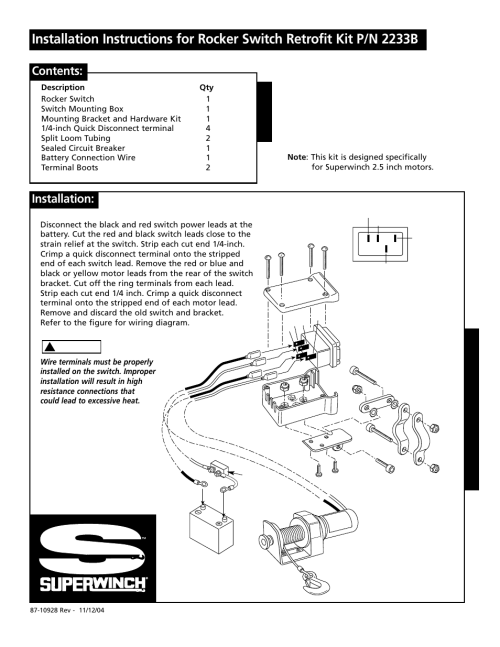 small resolution of superwinch rocker switch 2233b user manual 6 pagessuperwinch switch wiring diagram 4