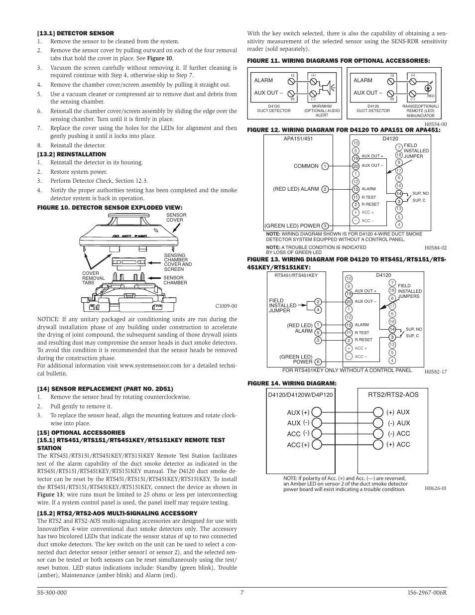 hight resolution of  system sensor d4120 d4p120 and d4s page7 system sensor d4120 d4p120 and d4s user system sensor conventional smoke detector wiring diagram