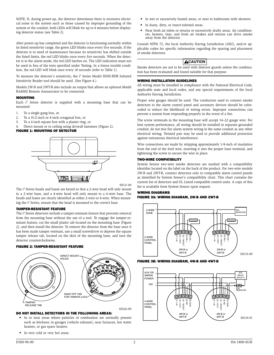 medium resolution of the i figure 3b wiring diagram 4w b and 4wt b system sensor i3 series smoke detectors user manual page 2 4