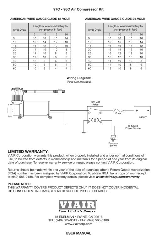 small resolution of single u201cc u201d model compressor wiring diagram limited warranty 97csingle u201cc