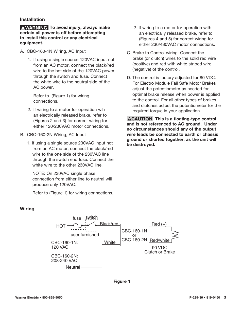 hight resolution of warner electric cbc 160 2n user manual page 3 6 also for cbc 160 1n