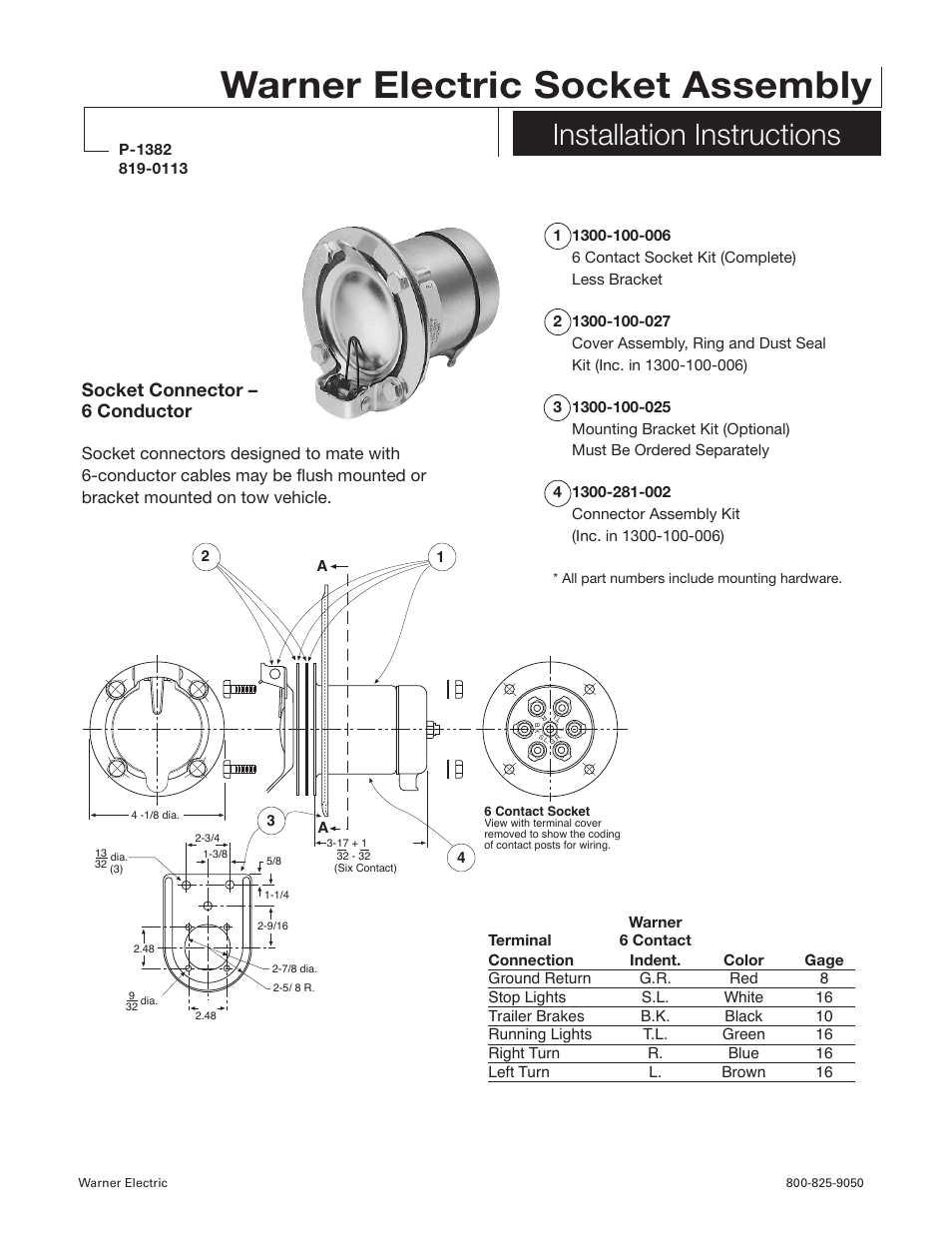 hight resolution of warner electric electric socket assembly installation user manualwarner electric electric socket assembly installation user manual 2