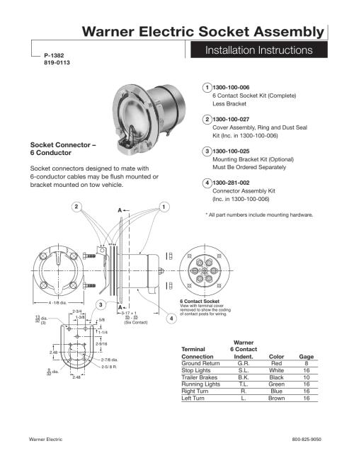 small resolution of warner electric electric socket assembly installation user manualwarner electric electric socket assembly installation user manual 2