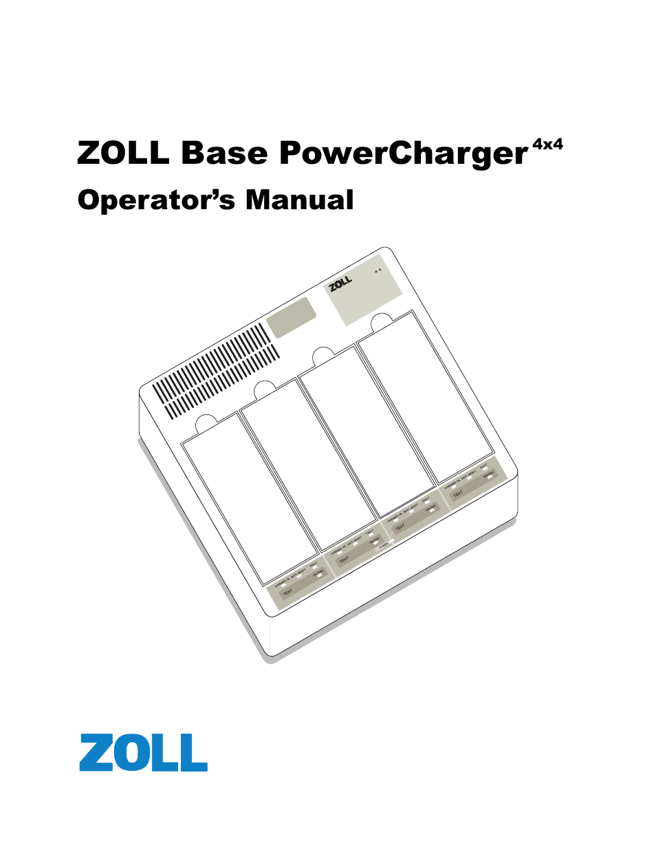 ZOLL M Series Defibrillator Rev G Base PowerCharger 4x4