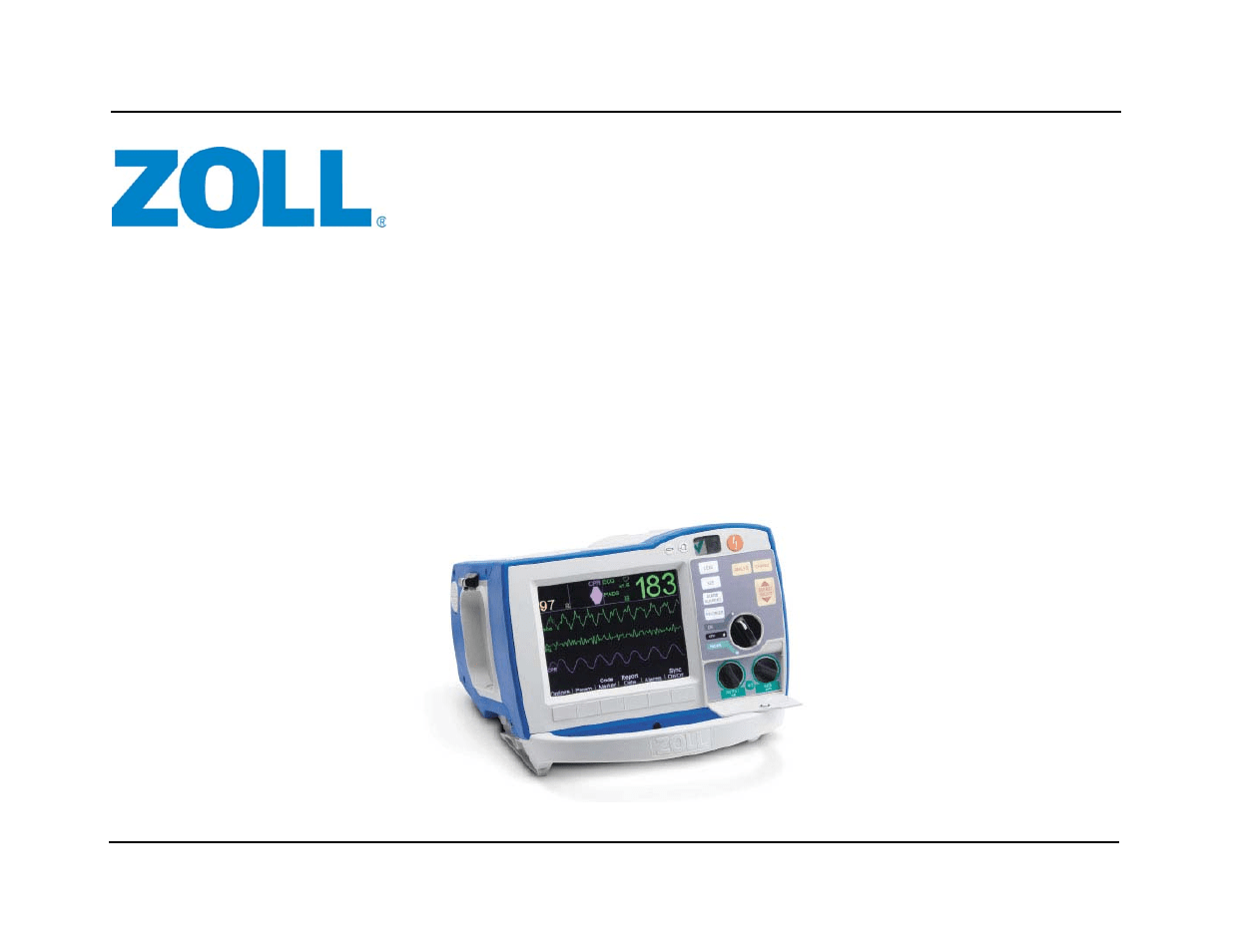 ZOLL R Series Monitor Defibrillator Rev J User Manual