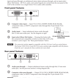 extron electronics vsw i aap setup guide user manual 2 pages [ 954 x 1475 Pixel ]