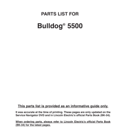 bulldog parts list for lincoln electric im10074 bulldog 5500 user manual page 43 56 [ 954 x 1235 Pixel ]