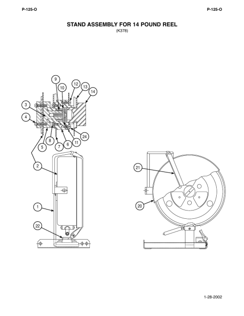 small resolution of stand assembly for 14 pound reel lincoln electric im294 ln 9 semiautomatic wire feeder