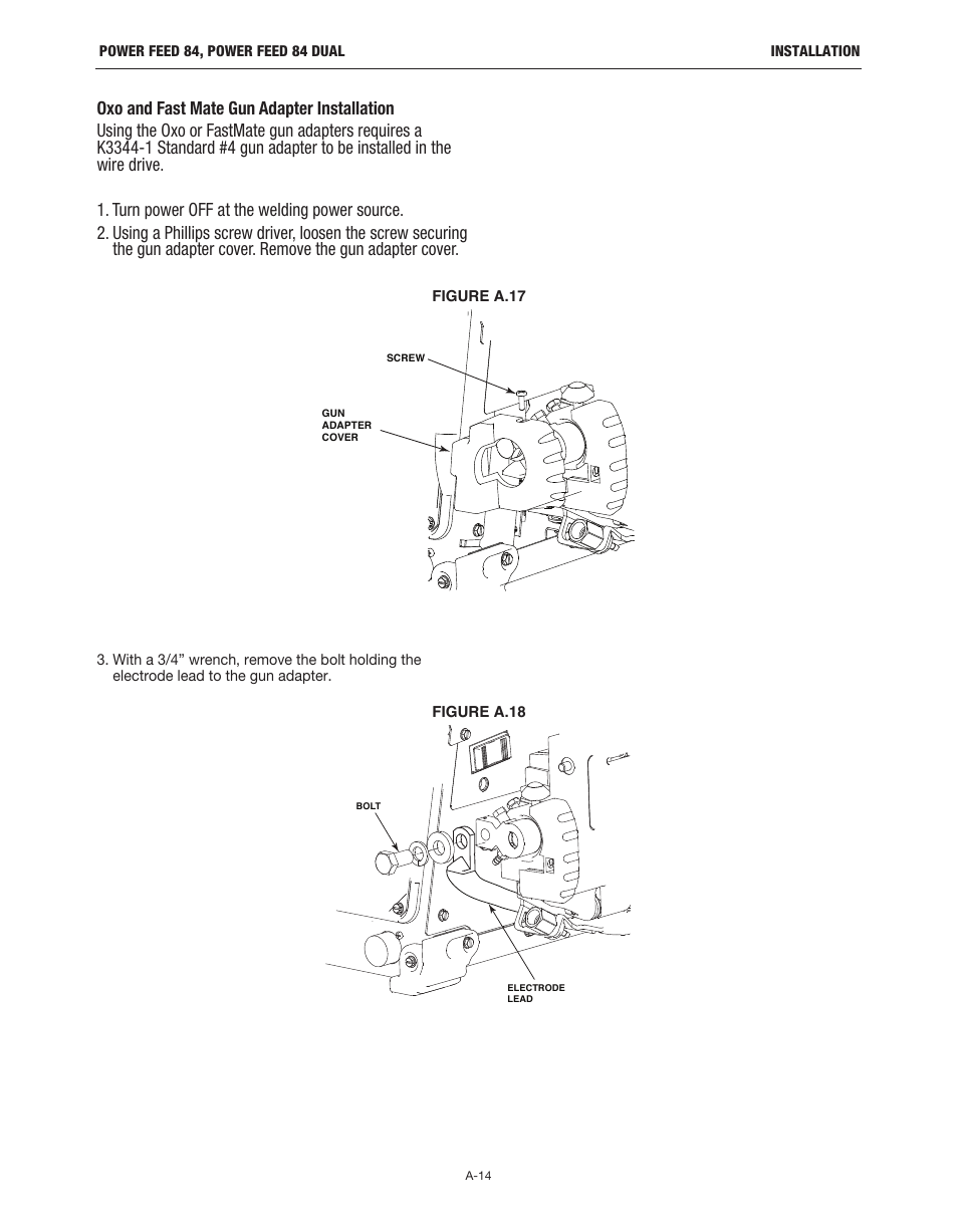 hight resolution of lincoln electric im10178 power feed 84 u i control box user manual page 21 136