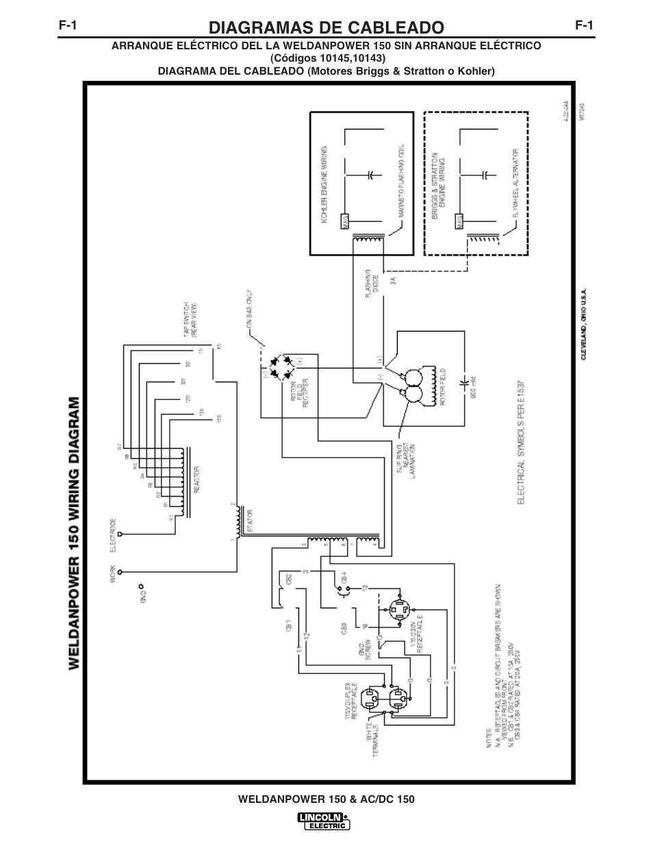medium resolution of diagramas de cableado lincoln electric im413 weldanpower 150 userdiagramas de cableado lincoln electric im413 weldanpower 150