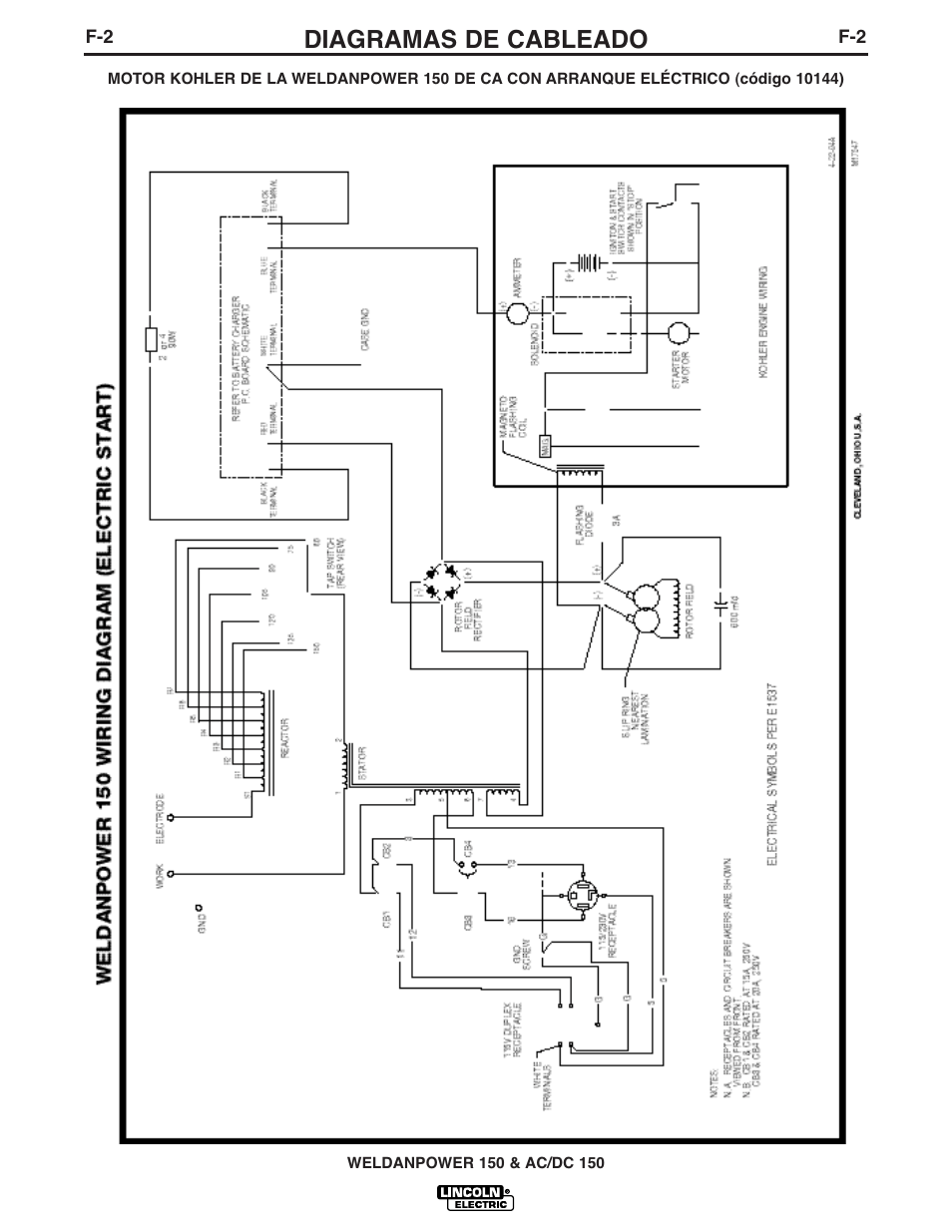 hight resolution of diagramas de cableado lincoln electric im413 weldanpower 150 user manual page 18 30