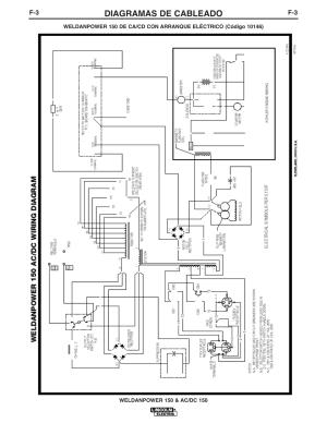 Diagramas de cableado   Lincoln Electric IM413 Weldanpower