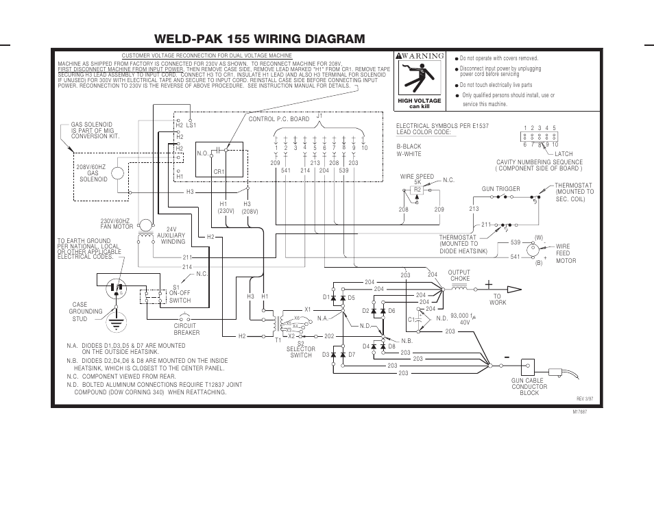5 wire thermostat wiring diagram dld mini projects circuit weld-pak 155 | lincoln electric imt538 user manual page 47 / 52