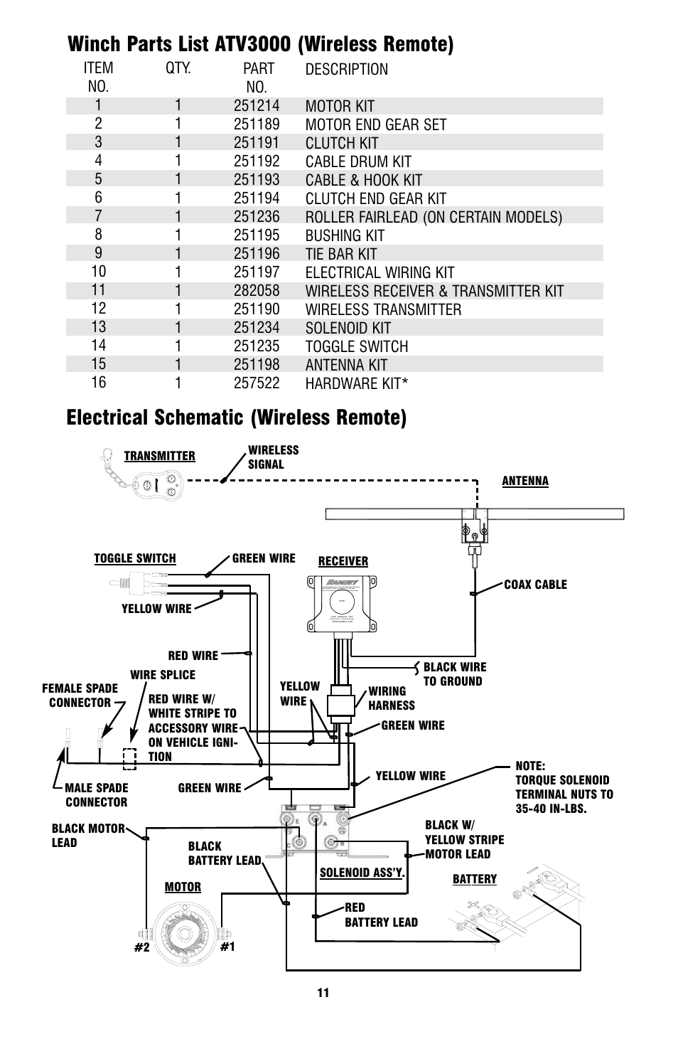 hight resolution of ramsey winch atv 3000 user manual page 11 16 rh manualsdir com ramsey atv winch wiring diagram 12 volt winch wiring diagram