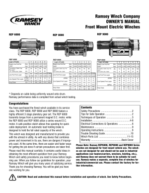 Ramsey Rep 8000 Winch Wiring Diagram Design