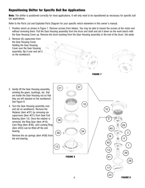 small resolution of ramsey winch rep 8000 9000 user manual page 8 58