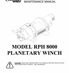 ramsey winch rph 8000 user manual [ 954 x 1235 Pixel ]