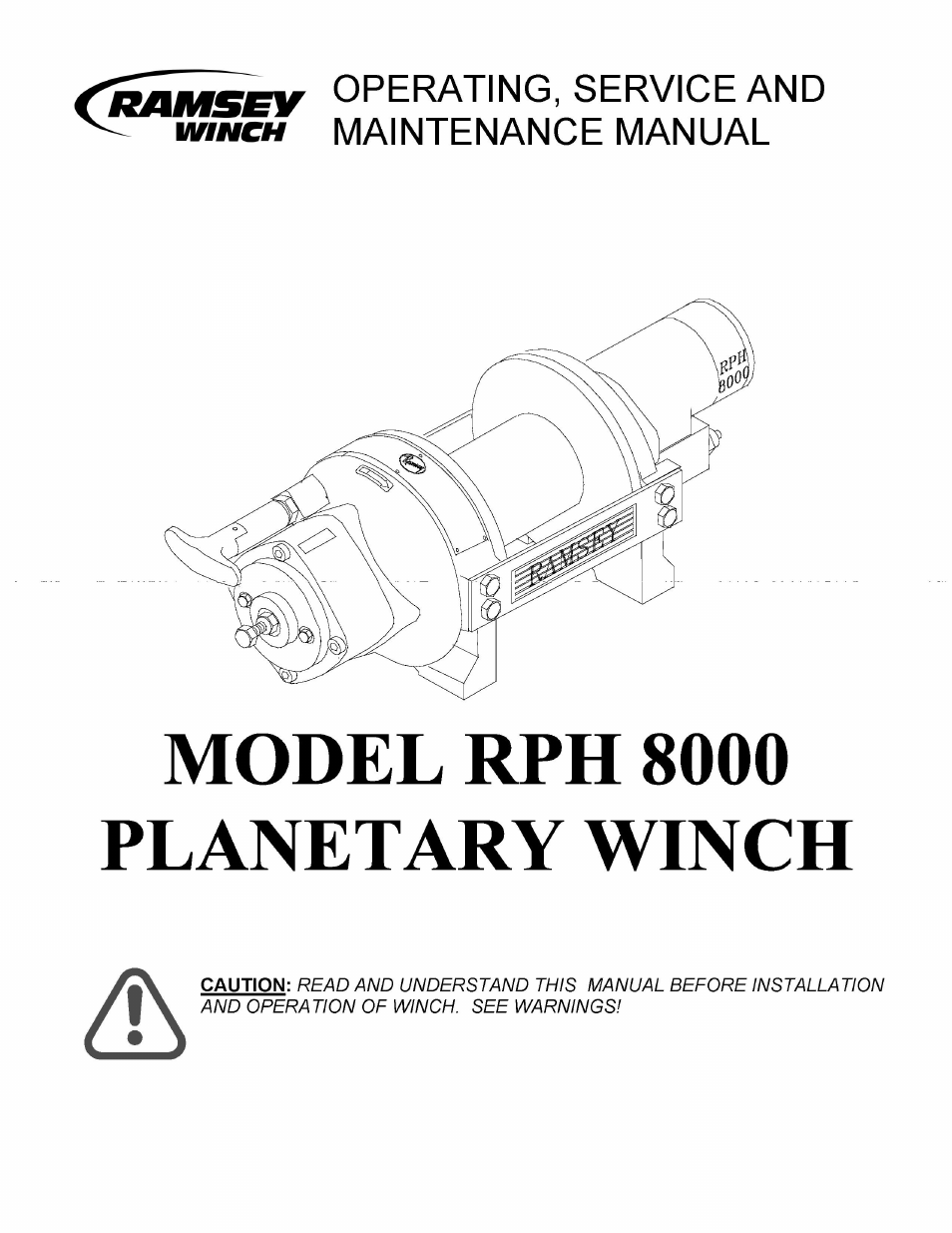 hight resolution of ramsey winch rph 8000 user manual