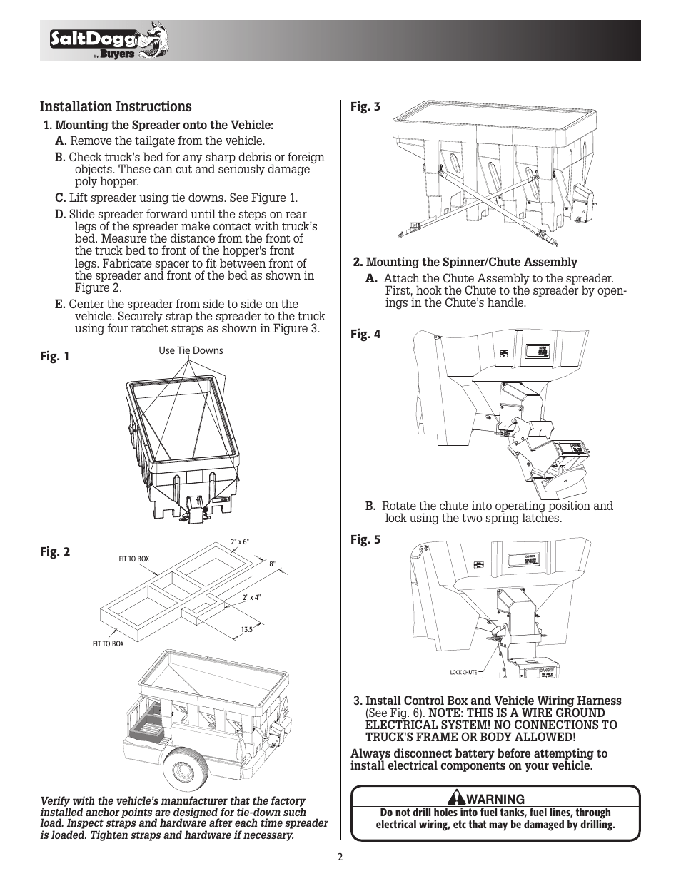 hight resolution of installation instructions saltdogg shpe1500 series electric drive poly hopper spreader v 2 user manual page 2 8