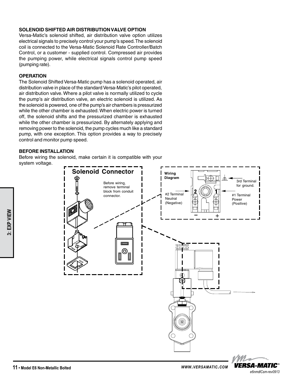 hight resolution of solenoid connector versa matic 1 4 elima matic bolted plastic e6 user manual page 14 15