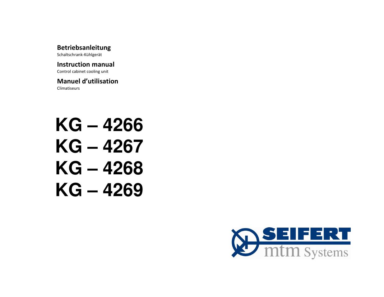 SEIFERT Filterless Control Cabinet Air Conditioner KG 4269