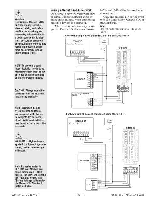small resolution of wiring a serial eia 485 network watlow ez zone st user manual watlow ez zone wiring diagram
