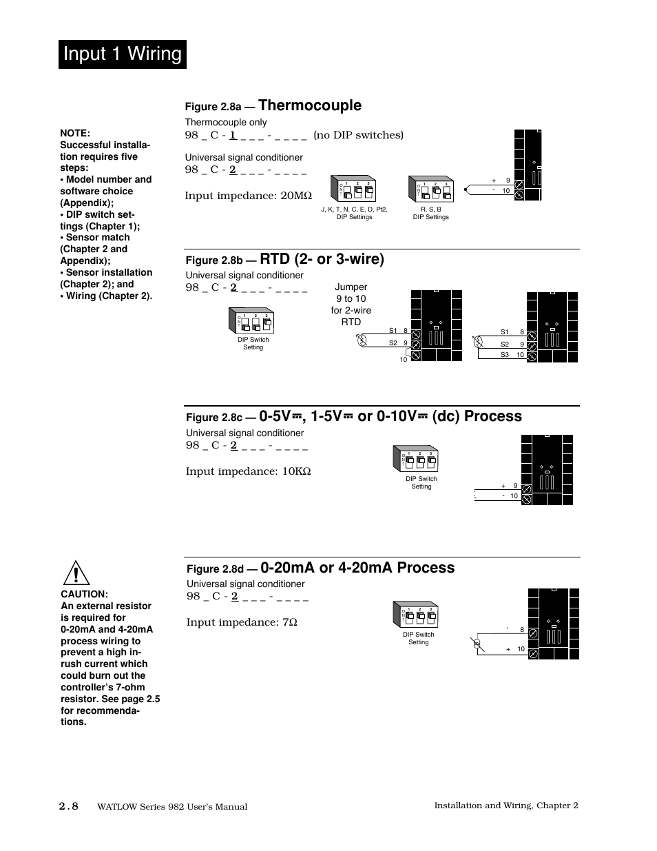 hight resolution of input 1 wiring 8 input 1 wiring thermocouple watlow series 982 user manual page 18 141