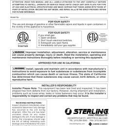 sterling hvac wiring diagram [ 954 x 1235 Pixel ]