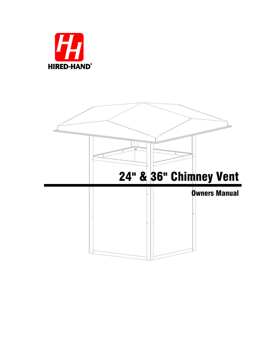 Hired-Hand Baffles, Vents, & Inlets: 24 & 36 Chimney Vent