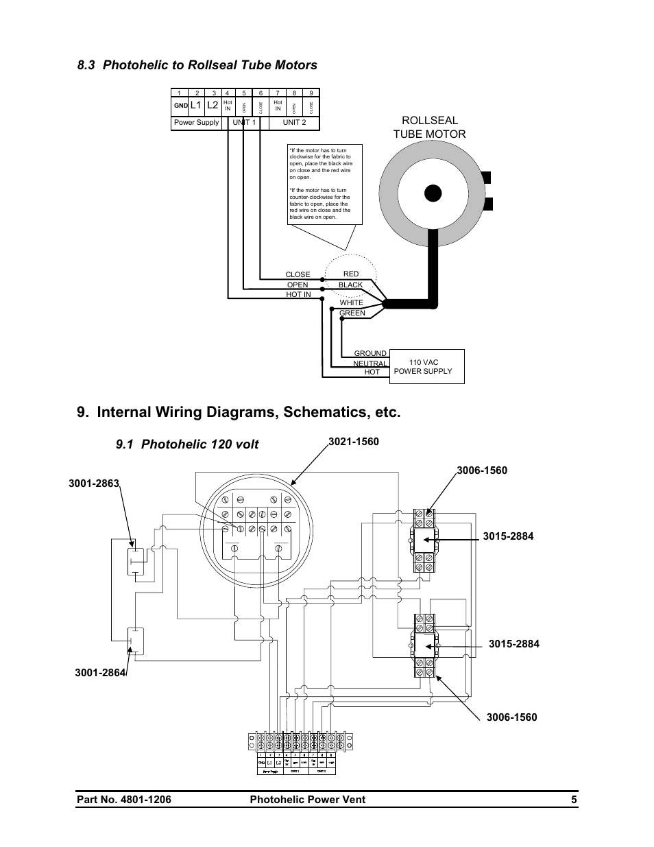 medium resolution of internal wiring diagrams schematics etc 3 photohelic to rollseal tube motors 1