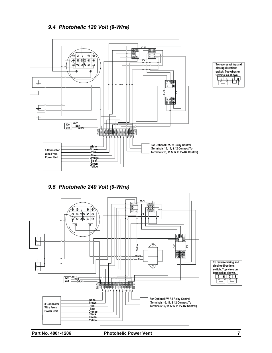 medium resolution of hired hand electro mechanical controls relay switches photohelic power vent user manual page 9 10
