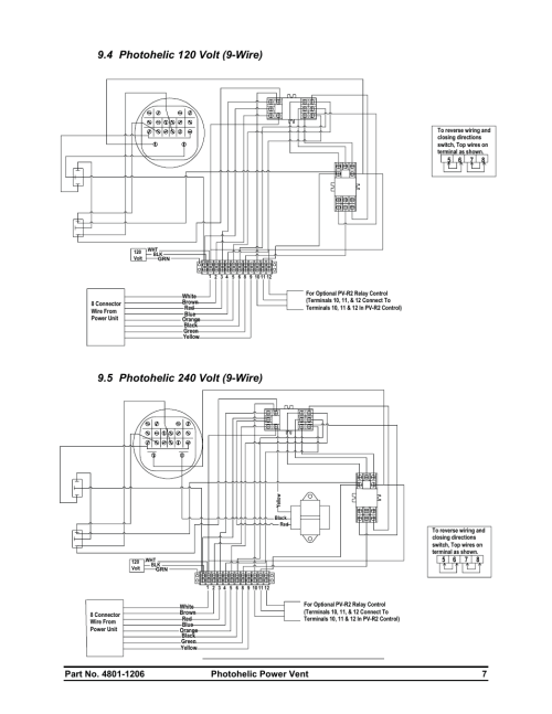 small resolution of hired hand electro mechanical controls relay switches photohelic power vent user manual page 9 10